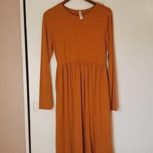 3/$30 Zeanna Outfitters Maxi Dress Mustard sz L